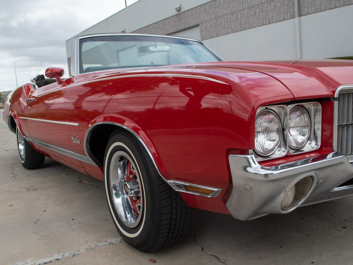 1971 Red Oldsmobile Cutlass Convertible 0997