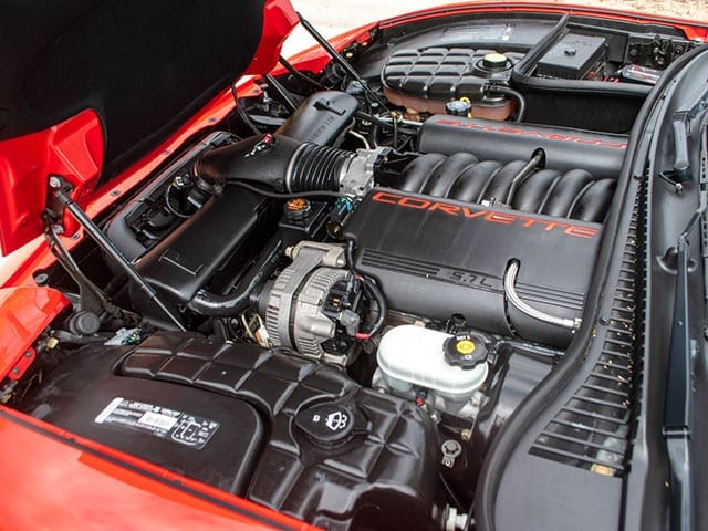 2002 red corvette convertible motor
