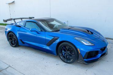 2019 Blue Corvette ZR 1 0911