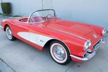 1958 Red Corvette Convertible 0161