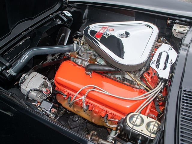 1967 black corvette l71 convertible motor 1