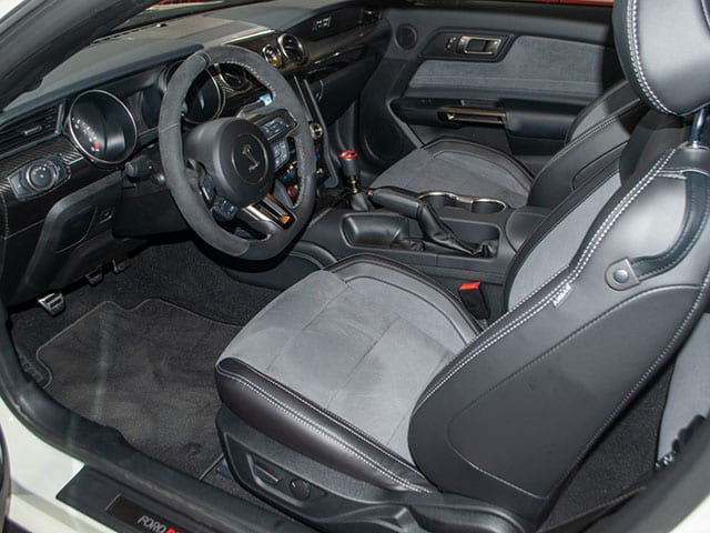 2020 white shelby coupe interior 1