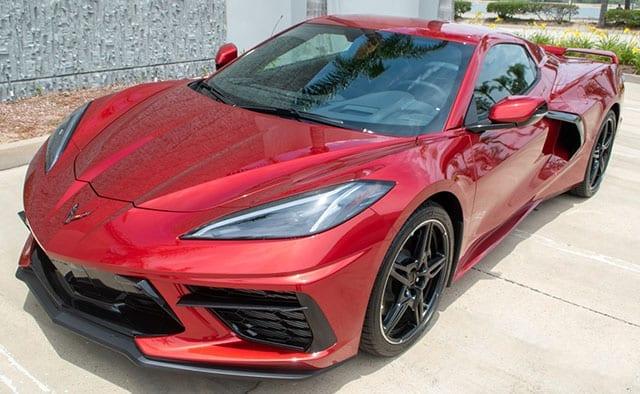 2021 red c8 corvette convertible coming