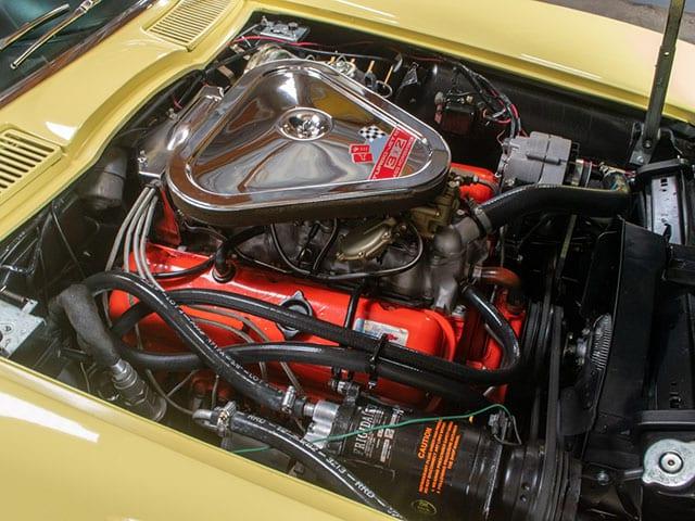 1967 sunfire yellow corvette l68 convertible motor
