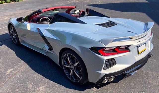 2021 silver red c8 corvette convertible jd power